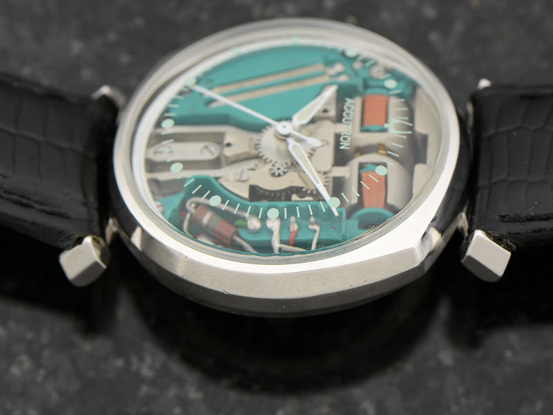 Bulova Accutron 14K White Gold Asymmetric Spaceview Watch