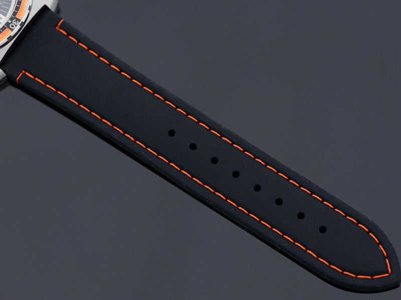 Brand New Silicone strap with Orange Stitching