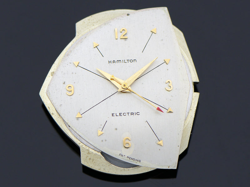 Hamilton Electric Pacer Silver Cross Hatch Dial