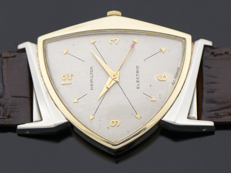 Hamilton Electric Silver Cross Hatch Dial Pacer