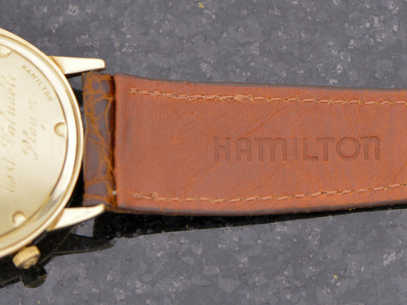 New Old Stock Genuine Crocodile Hamilton Band with Hamilton Marked Gold Filled Buckle