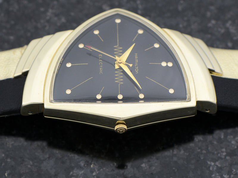 Hamilton Electric 14K Ventura Black Dial