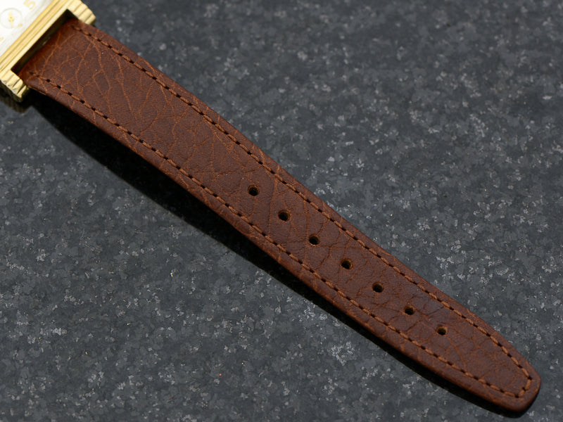 Brand new genuine leather Brown Band with matching Gold Colored Buckle