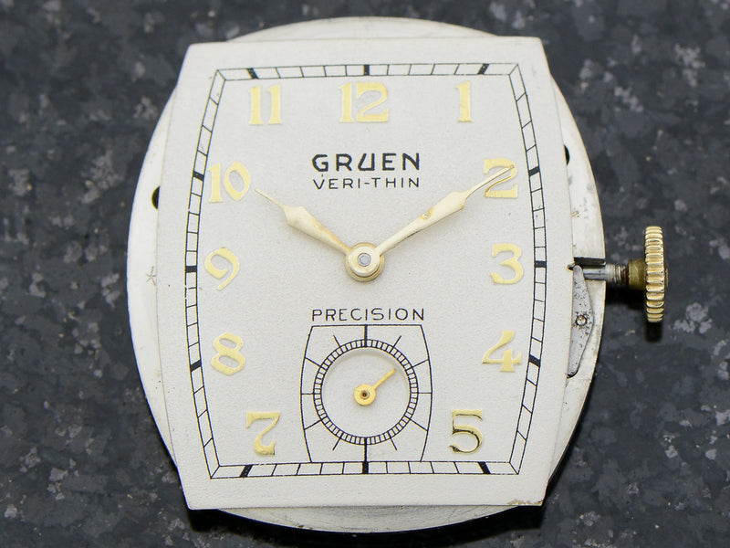 Gruen Flip Top Veri-Thin Precision Watch Dial