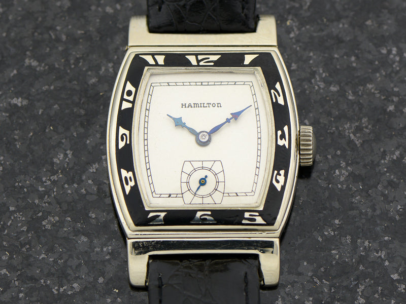Hamilton 14K White Gold Coronado Vintage 1920's Watch
