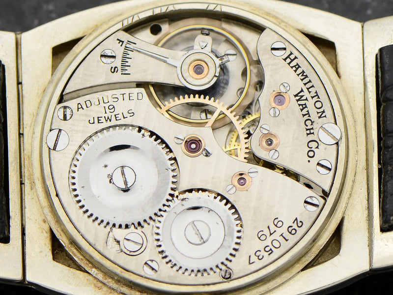 Hamilton 14K White Gold Coronado Vintage 1920's Watch Movement