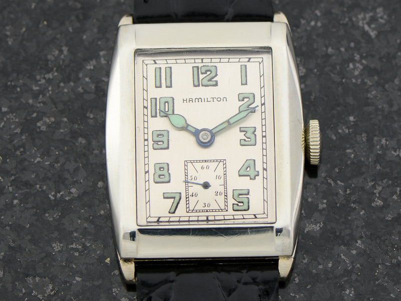 Hamilton 14K White Gold Filled Gladstone