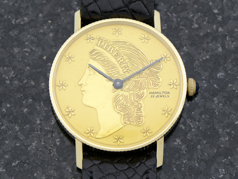 Hamilton 14K Liberty Coin Vintage Watch