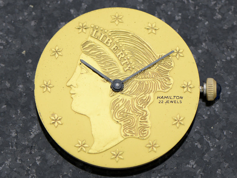 Hamilton 14K Liberty Coin Vintage Watch Dial