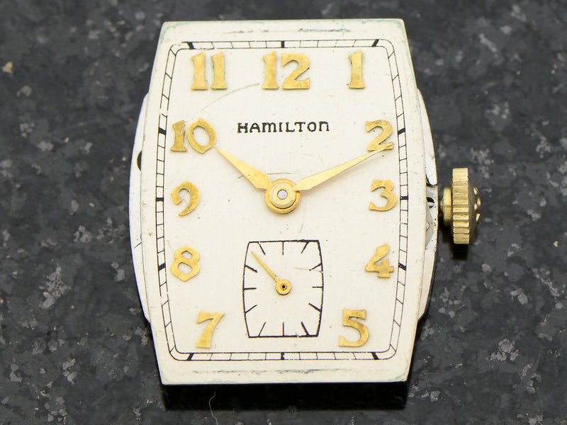 Hamilton 10K Solid Gold Turner Vintage Watch Dial