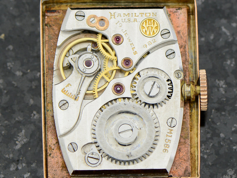 Hamilton  Coral Gold Rodney Vintage Watch Movement