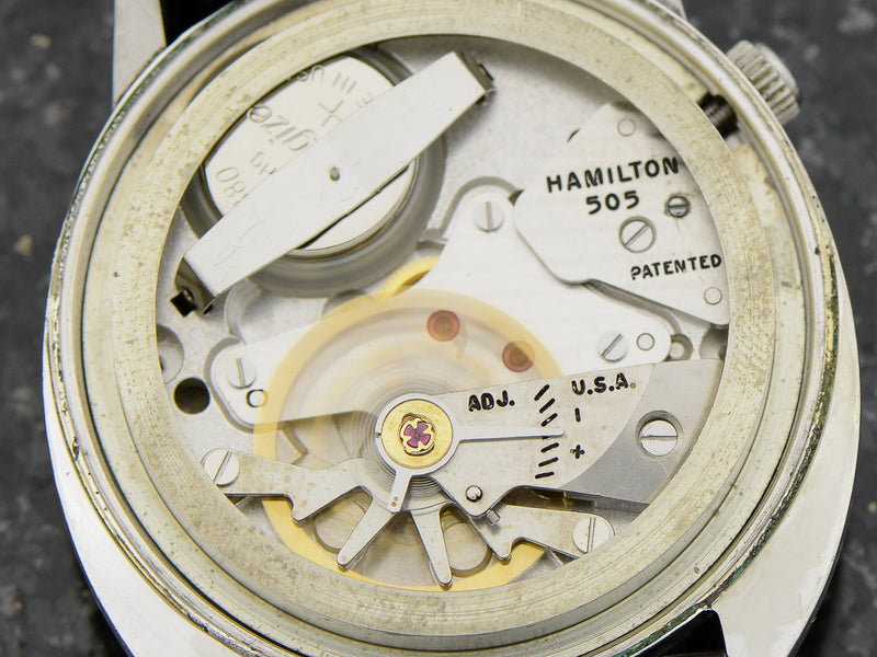 Hamilton Electric White GF Saturn 505 electric movement