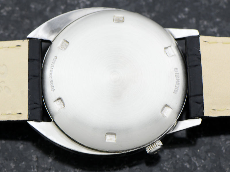 Hamilton Electric White GF Saturn Original Black Dial case back