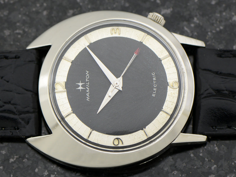 Hamilton Electric White GF Saturn Original Black Dial