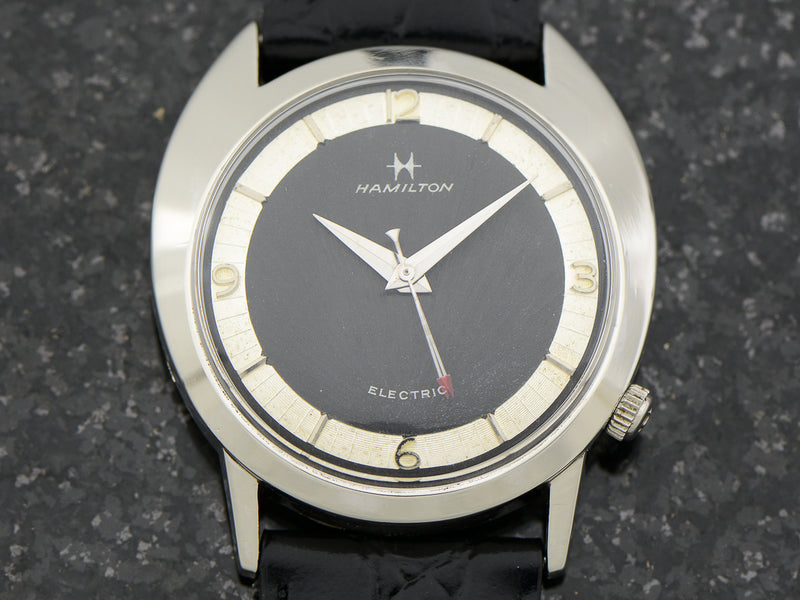 Hamilton Electric White GF Saturn Original Black Dial Watch