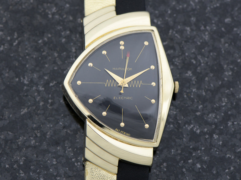 Hamilton Electric 14K Ventura Black Dial from Unwind In Time