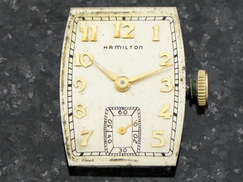 Hamilton 14K Solid Gold Donald Vintage Watch Dial