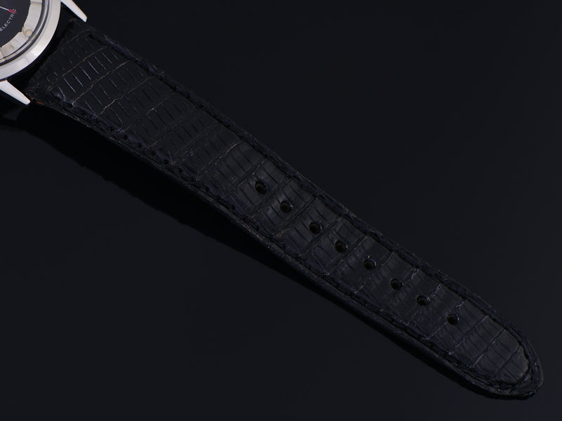 Vintage Genuine Lizard Black Watch Strap
