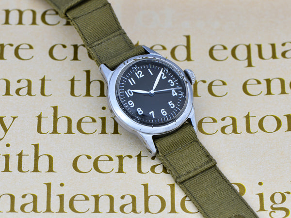 Waltham A-11 World War II Military Hacking Watch