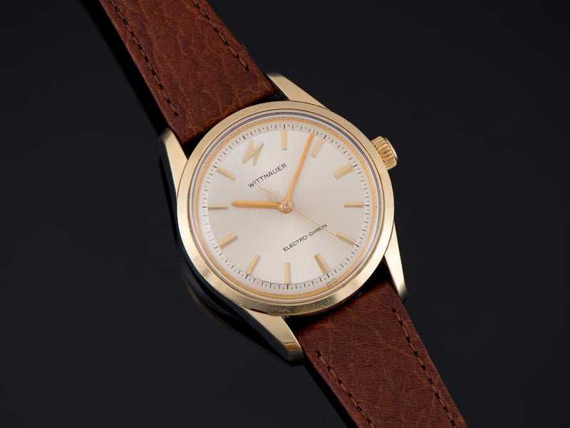 Wittnauer Electro-Chron Gold Cap Stainless Steel Watch