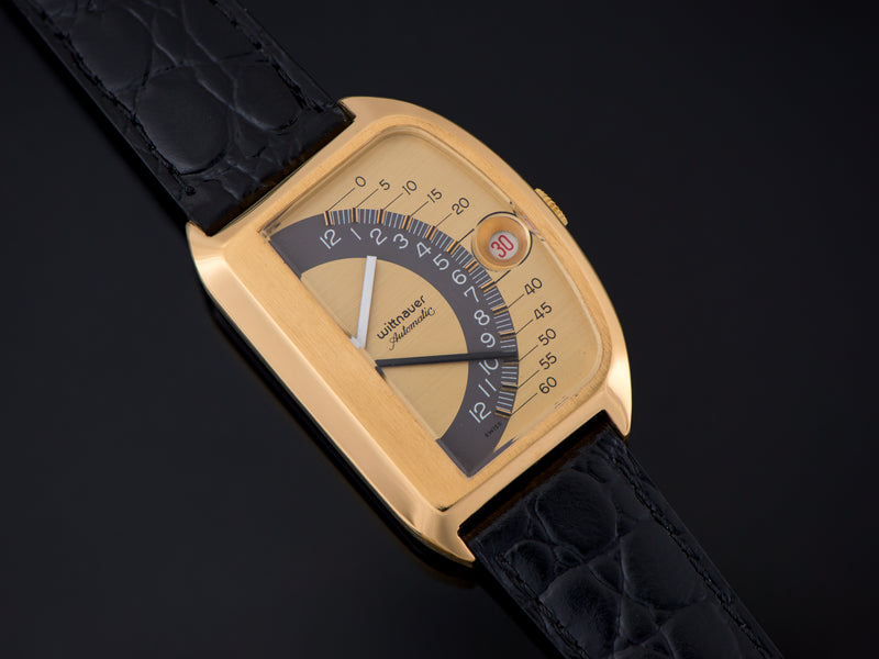 Wittnauer Futurama Gold Dial Watch