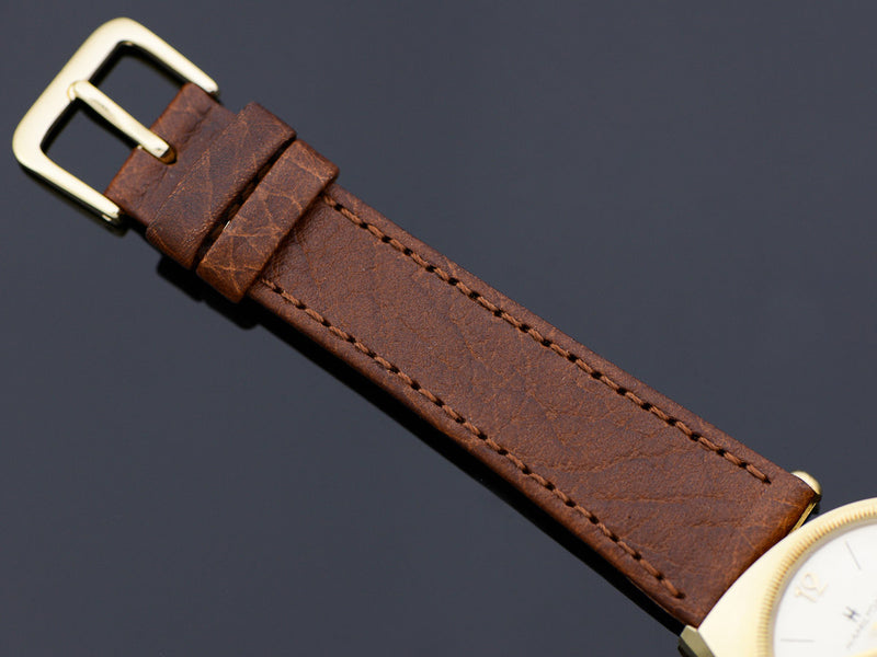 New Genunie Leather Brown Band with matching Gold Tone Buckle