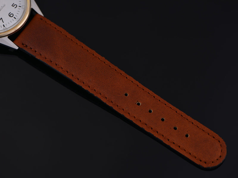 Brand new genuine Leather Brown Watch Strap