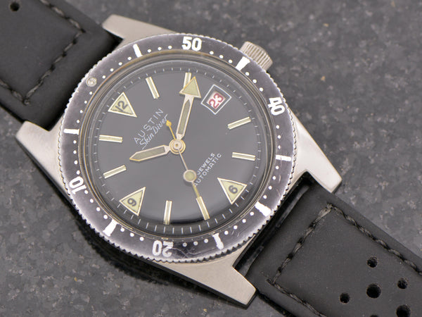 Austin Automatic Skin Diver With Unique Countdown Bezel from Unwind In Time