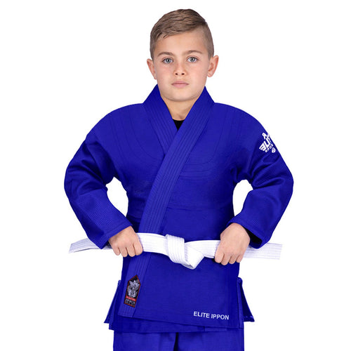 Elite Sports Ultra Light Preshrunk Blue Kids Judo Gi