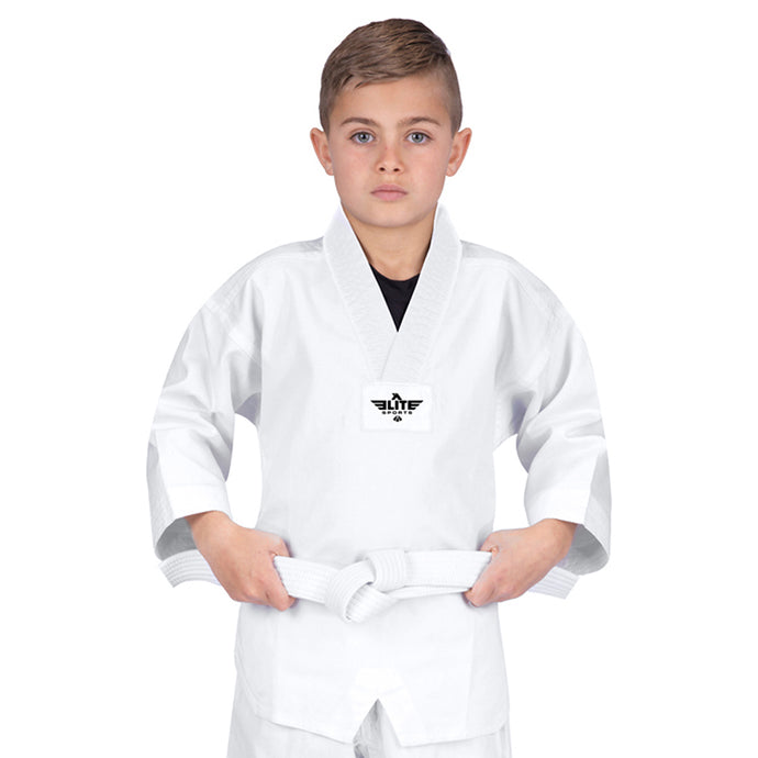 Elite Sports Ultra Light Preshrunk White Kids Taekwondo - TKD Gi (Kids)