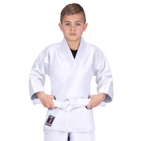 Elite Sports Ultra Light Preshrunk White Kids Karate Gi