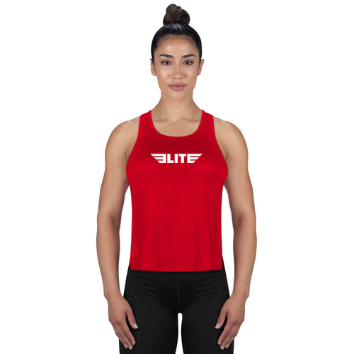 Elite Sports Red Boxing Women Tank Top