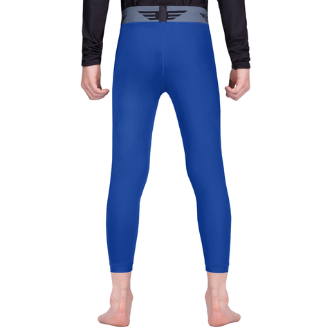 Elite Sports Blue Kids Compression Bjj Spat Pants