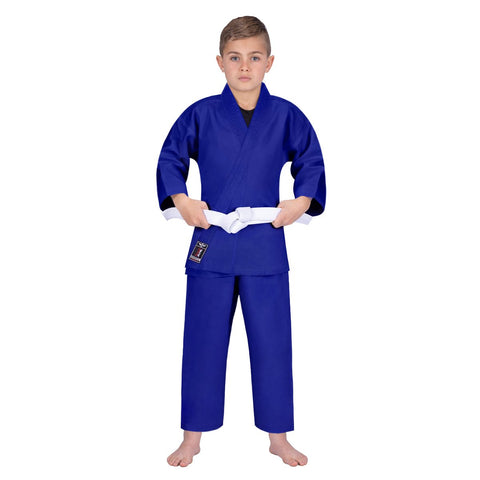 Elite Sports Ultra Light Preshrunk Blue Kids Karate Gi