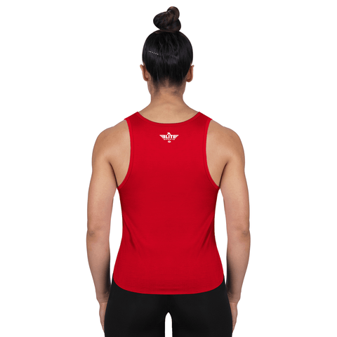 Elite Sports Red Karate Women Tank Top