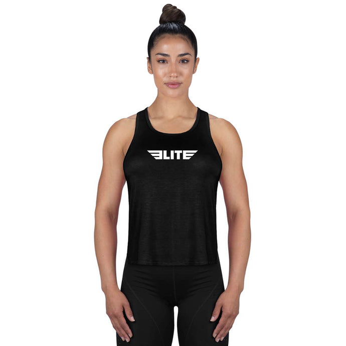Elite Sports Black MMA Women Tank Top