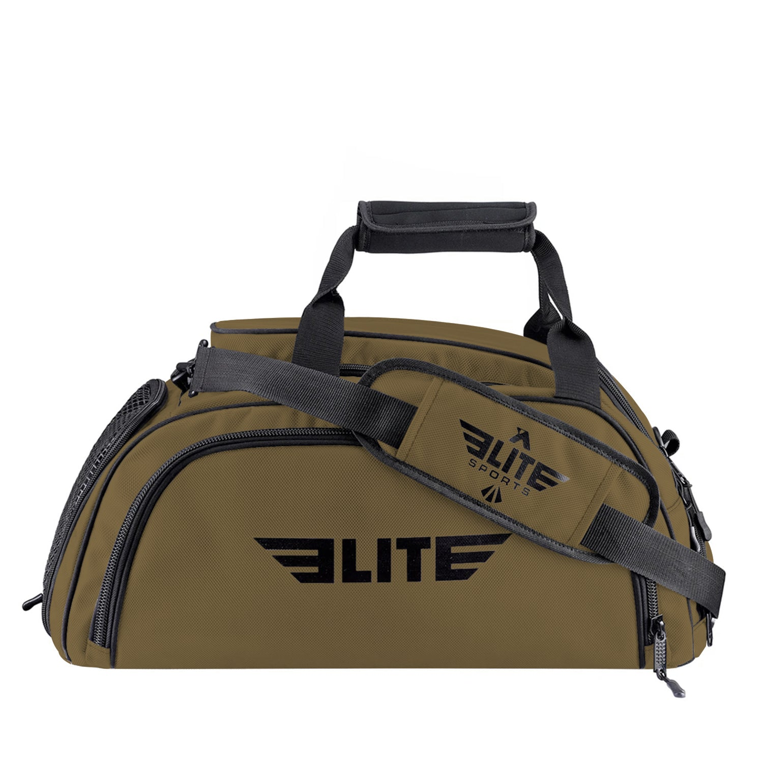 Elite Sports Warrior Series Khaki Medium Duffel Brazilian Jiu Jitsu BJJ Gear Gym Bag & Backpack