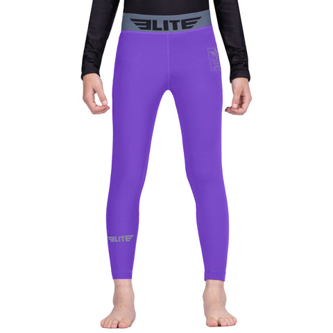 Elite Sports Purple Kids Compression Taekwondo Spat Pants