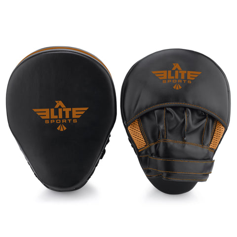 Elite Sports Essential Curved Black/Copper Boxing Punching Mitts