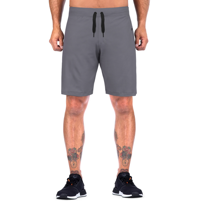 Elite Sports Mens Plain Gray Crossfit Shorts