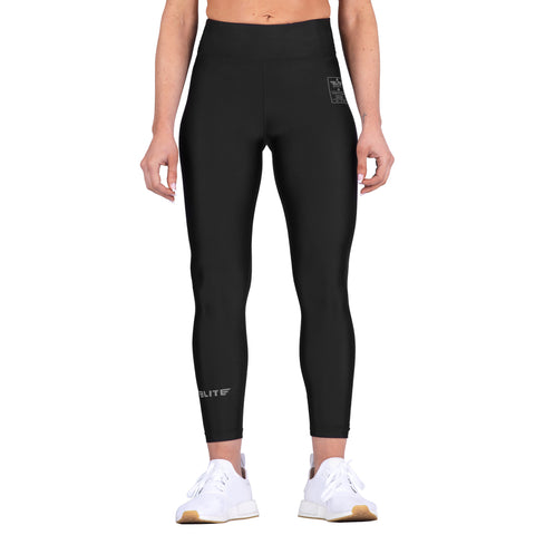 Elite Sports Black Women Compression Training Spat Pants