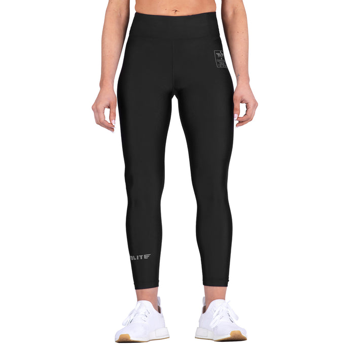 Elite Sports Black Women Compression MMA Spat Pants