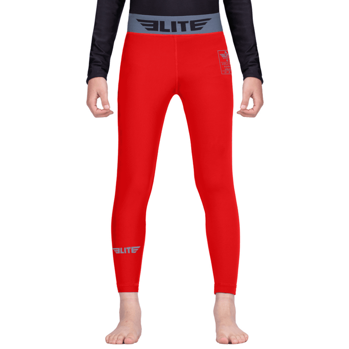 Elite Sports Red Kids Compression MMA Spat Pants