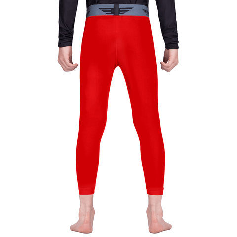 Elite Sports Red Kids Compression Wrestling Spat Pants