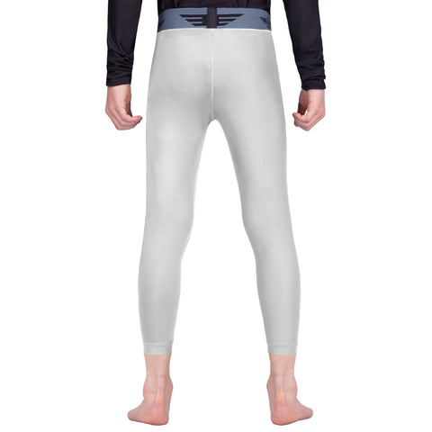 Elite Sports White Kids Compression Wrestling Spat Pants