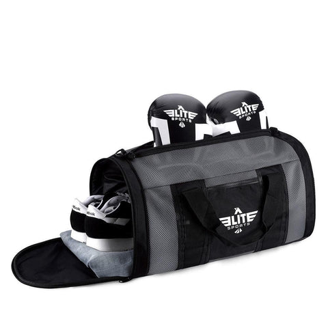 Elite Sports Mesh Gray Medium Brazilian Jiu Jitsu BJJ Gear Gym Bag