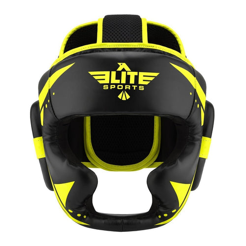 Elite Sports Star Series Sparring Black/Hi Viz Wrestling Headgear