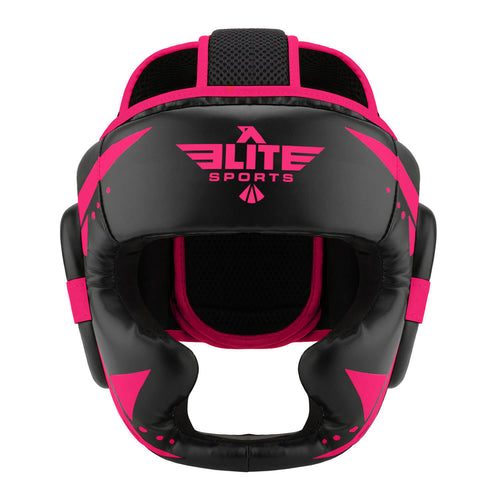 Elite Sports Star Series Sparring Black/Pink Wrestling Headgear