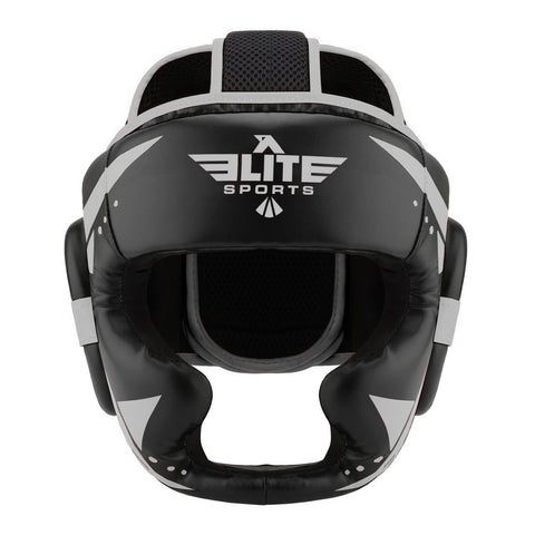 Elite Sports Star Series Sparring Black/Silver Wrestling Headgear
