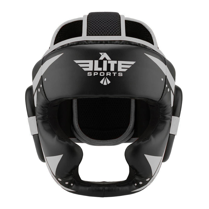 Elite Sports Star Series Sparring Black/Silver Boxing Headgear